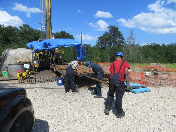 A copper drill rig near Bor Serbia
