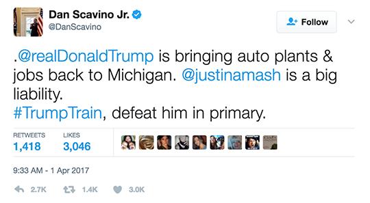 Dan Scavino Tweet