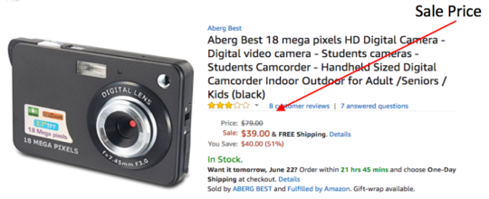 Amazon camera sale price