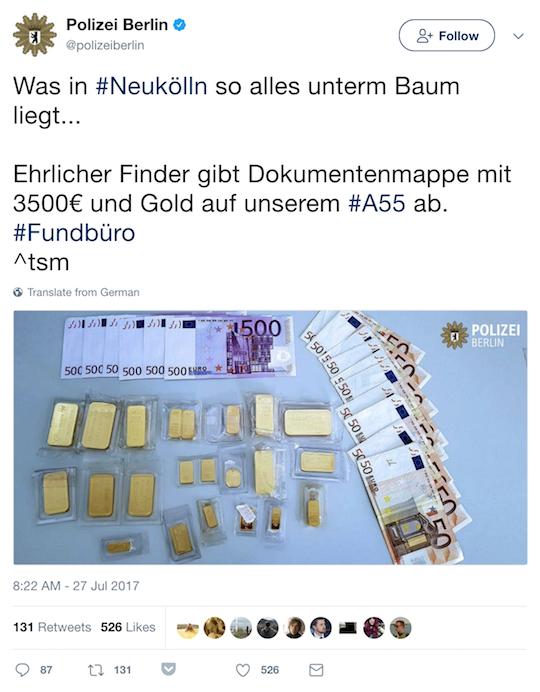 Berlin police Tweet