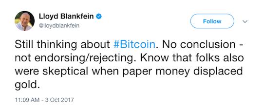 Lloyd Blankfein tweet