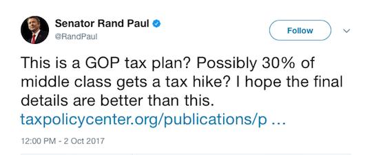 Sen. Paul tweet