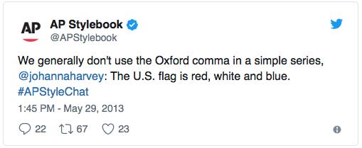 AP Stylebook tweet