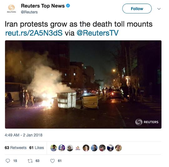 Reuters Top News Tweet