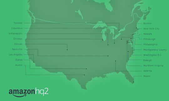 Amazon HQ2 Finalists