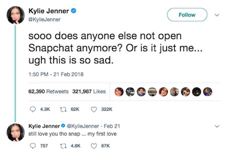 Kylie Jenner tweet