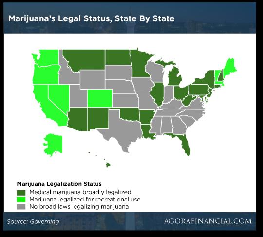 Marijuana's Legal Status, State by State