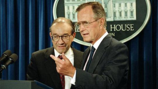 Bush and Alan Greenspan