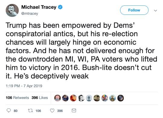 Michael Tracey Tweet