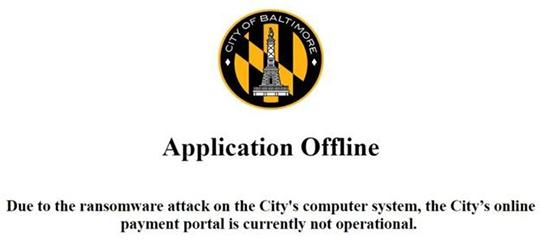 Baltimore City Cyber Attack