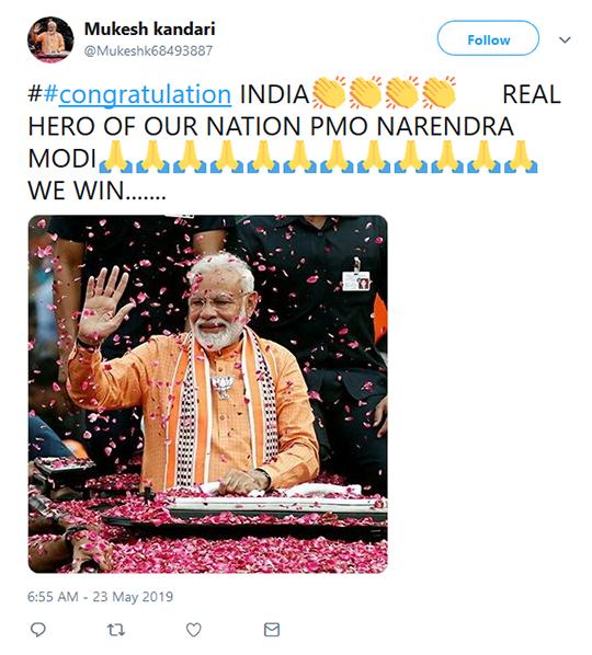 Indian President Tweet