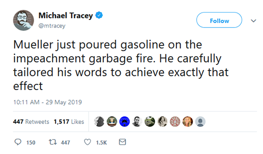 Michael Tracey Tweet
