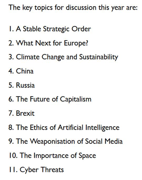 Key Topics Meeting Agenda