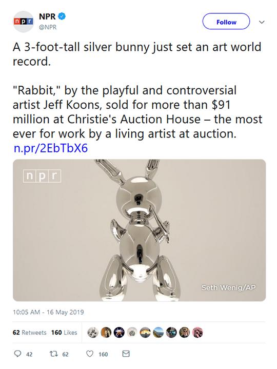 Silver Bunny Art Tweet