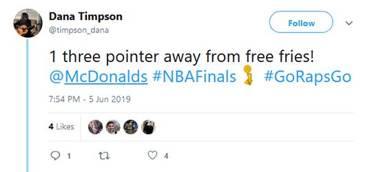 Free French Fries Tweet