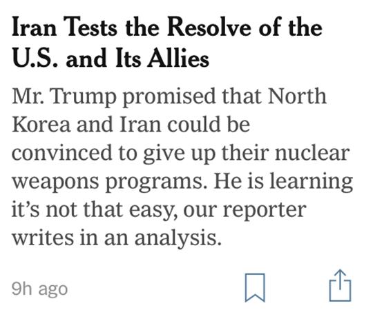 Iran Tests Headline