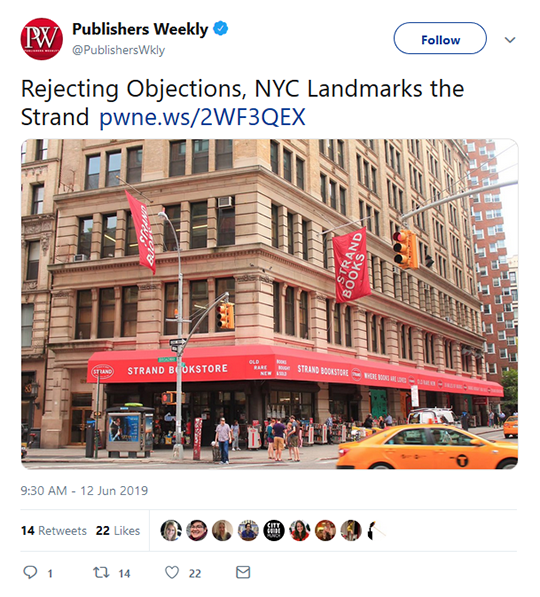 Publishers Weekly Tweet