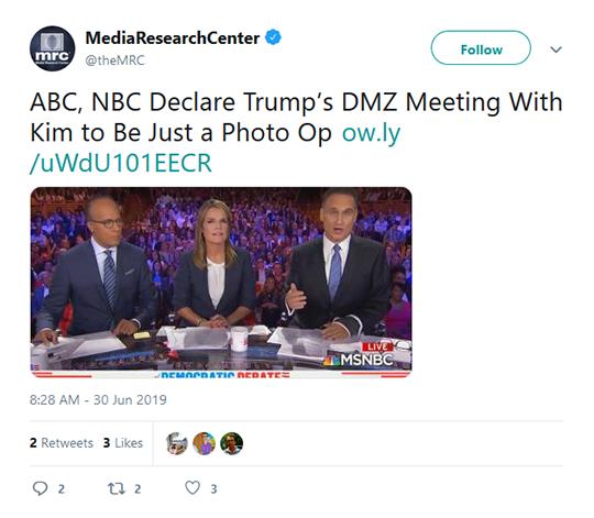 Media Research Tweet