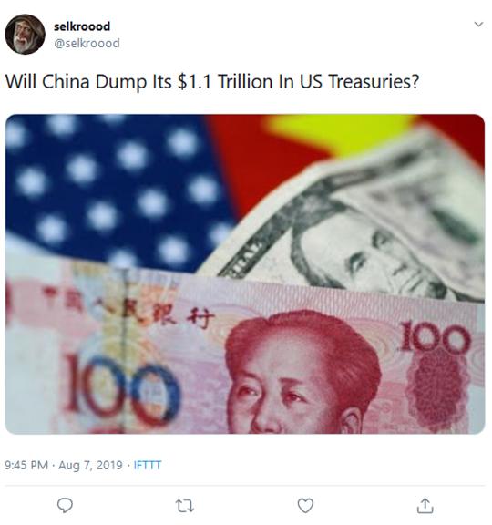 China US Treasuries Tweet
