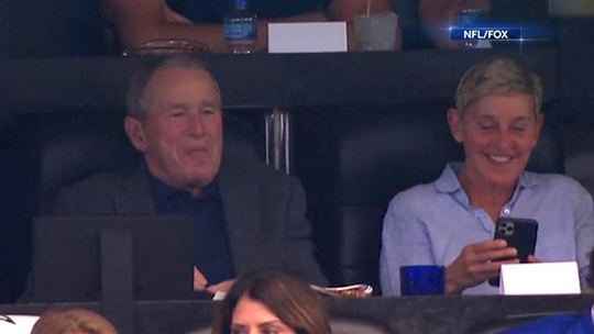 George Bush and Ellen
