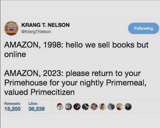 Krang Amazon Tweet