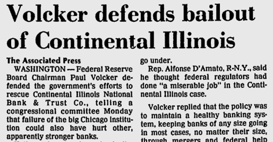 Volcker Bailout Illinois Snippet