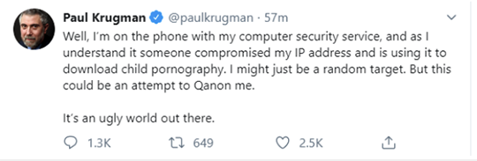 Krugman Tweet