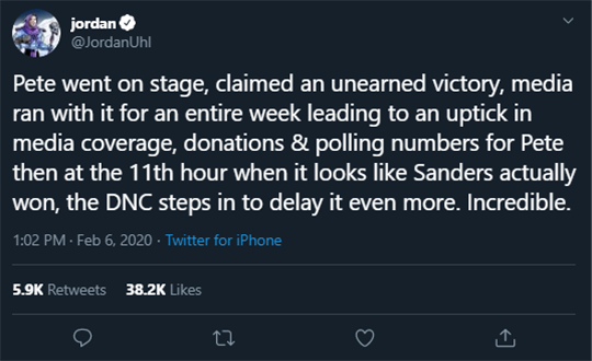Jordan Uhl Tweet