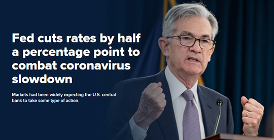 Fed Rates Cut by Half