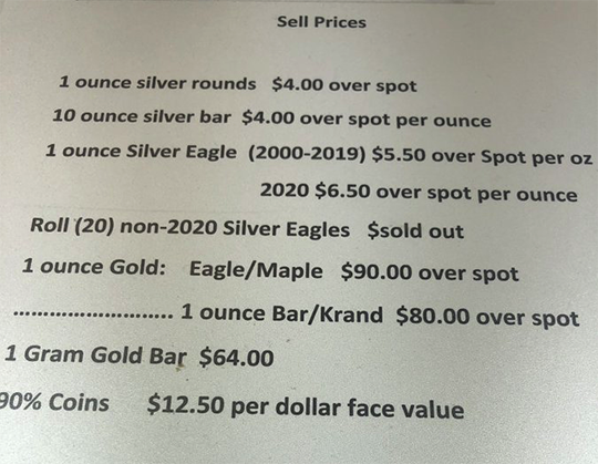 Sell Prices