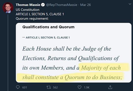 Thomas Massie Tweet